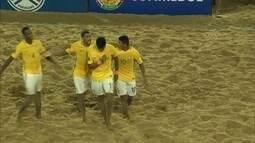 Os gols de Paraguai 5 x 7 Brasil pelas Eliminatórias da Copa do Mundo de futebol de areia