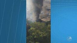 Incêndio atinge área de proteção ambiental na região da Avenida Paralela, em Salvador