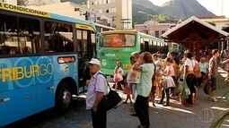 Começa novo sistema de integração do transporte público em Friburgo, RJ