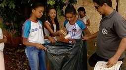 Alunos de uma escola pública de Montes Claros fazem conscientização contra a febre amarela