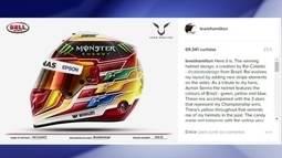 Brasileiro desenha capacete para Lewis Hamilton e o piloto aprova