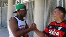 Mc's duelam na música e pedem paz no clássico carioca