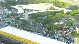 É intenso o movimento no Terminal Rodoviário de Salvador na sexta (24) de carnaval