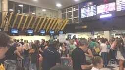 Aeroporto de Congonhas tem muitos atrasos e um cancelamento