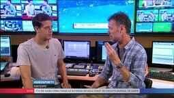 Gabriel Moojen comenta sobre as baterias em Gold Coast do Circuito Mundial de Surfe