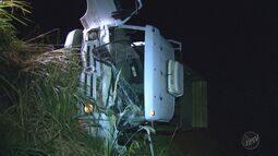 Acidente entre caminhões deixa um ferido em rodovia de Serrana, SP