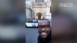 Thiaguinho grava vídeo em Londres antes de atentado