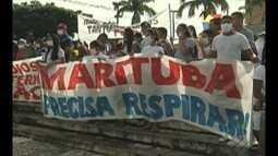 Comunidade de Marituba protesta contra lixão