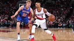 Melhores momentos: New York Knicks 95 x 110 Portland Trail Blazers pela NBA