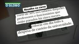 Pezão decide cortar parte de salários de professores parados da Uerj