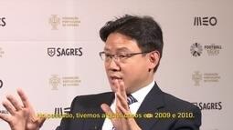 Vice-presidente da federação chinesa de futebol fala sobre crescimento do país no mercado