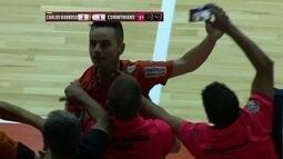 Os gols de Carlos Barbosa 2 x 1 Corinthians pela final da Supercopa de futsal