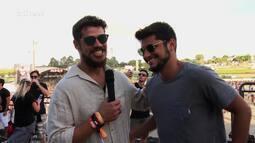 Bruno Gissoni conta como é encontrar os fãs no Lollapalooza