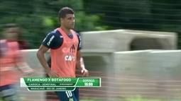 Ederson treina e tem chances de ser o substituto de Diego na semifinal do Carioca