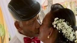 Casal de idosos celebra amor em asilo de Carmo do Cajuru