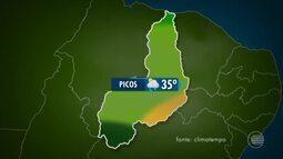 Confira a previsão do tempo para todo o Piauí