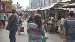 Feira no Campo Grande, em Santos, é motivo de polêmica