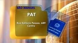 Confira as oportunidades de emprego no PAT de São Manuel