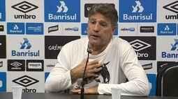 Renato minimiza eliminação no Gaúcho e garante Grêmio forte na Libertadores