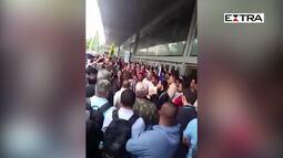 Tumulto nas barcas em Niterói