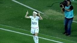 Os gols de Santos 2 x 1 Flamengo pelo Campeonato Brasileiro de Futebol Feminino