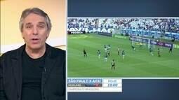 Jogo perigoso para derrapar, diz narrador, sobre duelo do São Paulo contra o Avaí