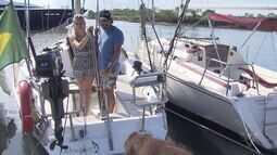 Casal abandona 'vida confortável' e inicia volta ao mundo em um veleiro
