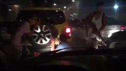 #Éboato que aconteceu arrastão no Túnel Marcello Alencar, no Centro do Rio