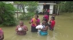 Tufão provoca mortes e muito estrago no sul da Ásia