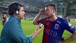 Eduardo Brock comenta lance em que goleiro do Paraná se chocou com Fred