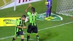 O gol de América-MG 1 x 0 Ceará pela série B do Campeonato Brasileiro