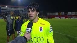 """Richard sobre o bom desempenho contra o Figueirense: """"Fico feliz"""""""