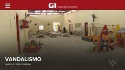 G1 em 1 Minuto: vândalos invadem e depredam duas escolas em Santos