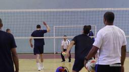 Vai, Corinthians - Primeiro treino da equipe de vôlei do Corinthians