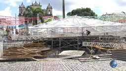 Após desabamento de palco no Pelourinho, Terreiro de Jesus continua interditado
