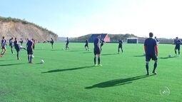 Ituano treina em gramado sintético para a partida contra o São José-RS, na Série D