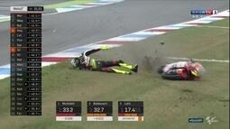 Baldassari sofre acidente feio na Moto 2 e é atendido ainda dentro da pista