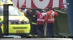 Equipe de socorro atua com rapidez, e deixa pista consciente e em ambulância