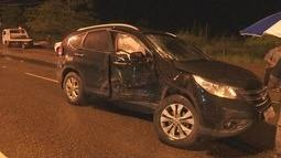 Vítimas são socorridas de acidente de trânsito em avenida movimentada de Boa Vista