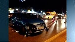 Homem morre após ter carro atingido por motorista bêbado na BR-040, em Valparaíso de Goiás