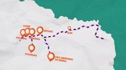 Daiane Fardin fez um passeio pela rota turística do café