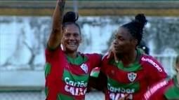 Os gols de Portuguesa 3 x 1 Tiradentes pela semifinal da Série A2 do Brasileiro Feminino