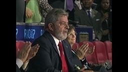 Na cerimônia de abertura do Pan do Rio em 2007, vaias ao então presidente Lula