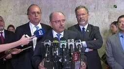 Ministro do Gabinete de Segurança Institucional dá entrevista sobre segurança no Rio