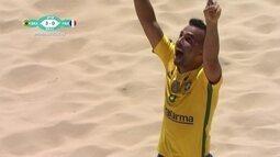 Os gols de Brasil 9 x 0 França pelo Mundial de Futebol de Areia