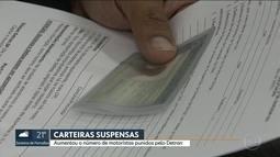 Aumenta o número de motoristas com CNH suspensa na Capital
