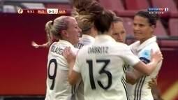 Os gols de Rússia 0 x 2 Alemanha pela UEFA Euro de Futebol Feminino