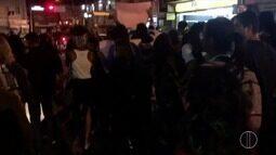 Manifesto em Itaperuna, RJ. Justiça ainda não tomou posição quanto à reajuste da passagem