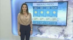 Veja a previsão do tempo para esta quinta-feira (27) na região de Ribeirão