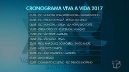 Confira o cronograma do Projeto 'Viva a Vida' 2017 em Santarém